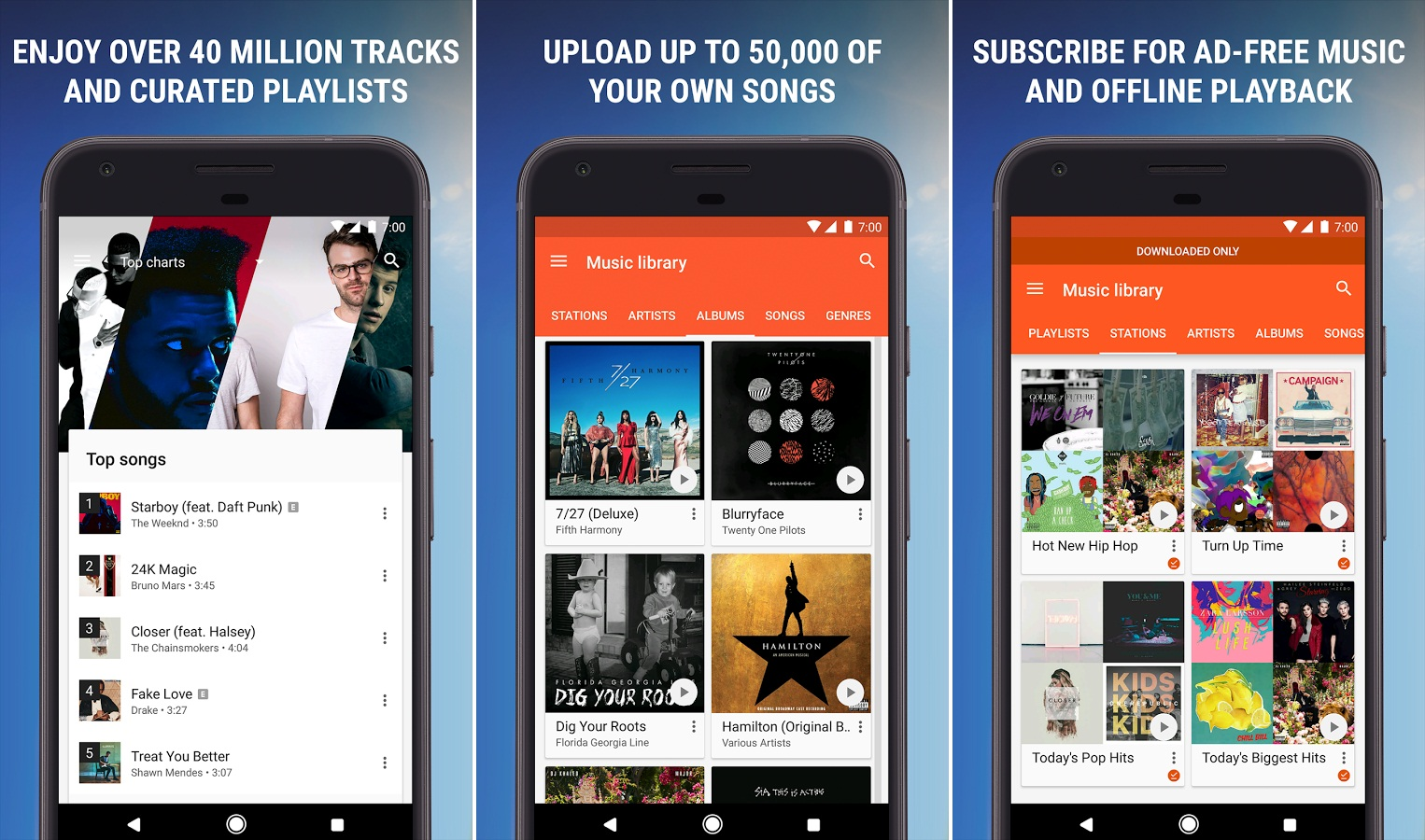 ANDROID APPS 2017, techloudgeek.com, techloudgeek, Google Play Music and YouTube