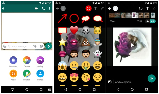 How to convert videos into GIFs on Whatsapp, convert videos into GIFs, techloudgeek.com, techloudgeek