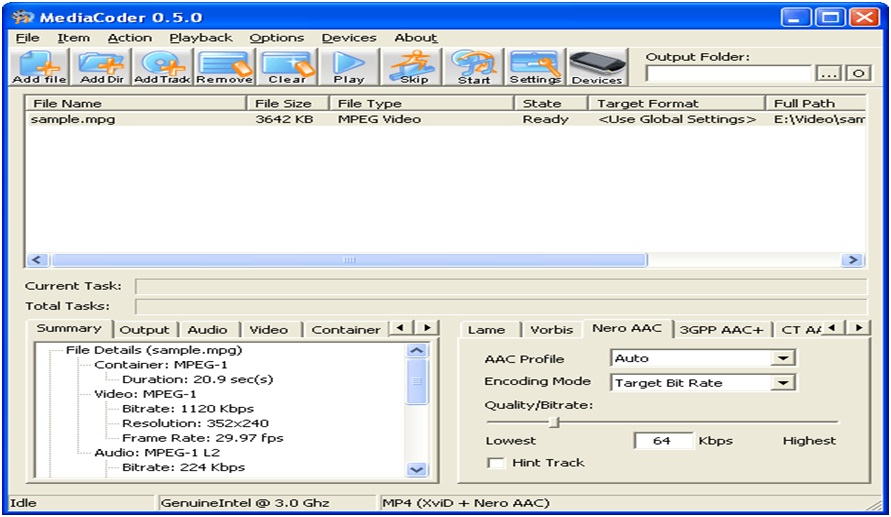 video converter software, Mediacoder, techloudgeek.com, techloudgeek