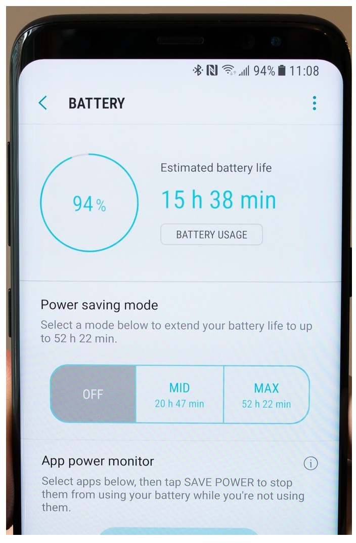 Samsung Galaxy S8 battery life, techloudgeek.com, techloudgeek